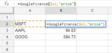 Tip of the Month: Retrieving stock market data into your Google Docs